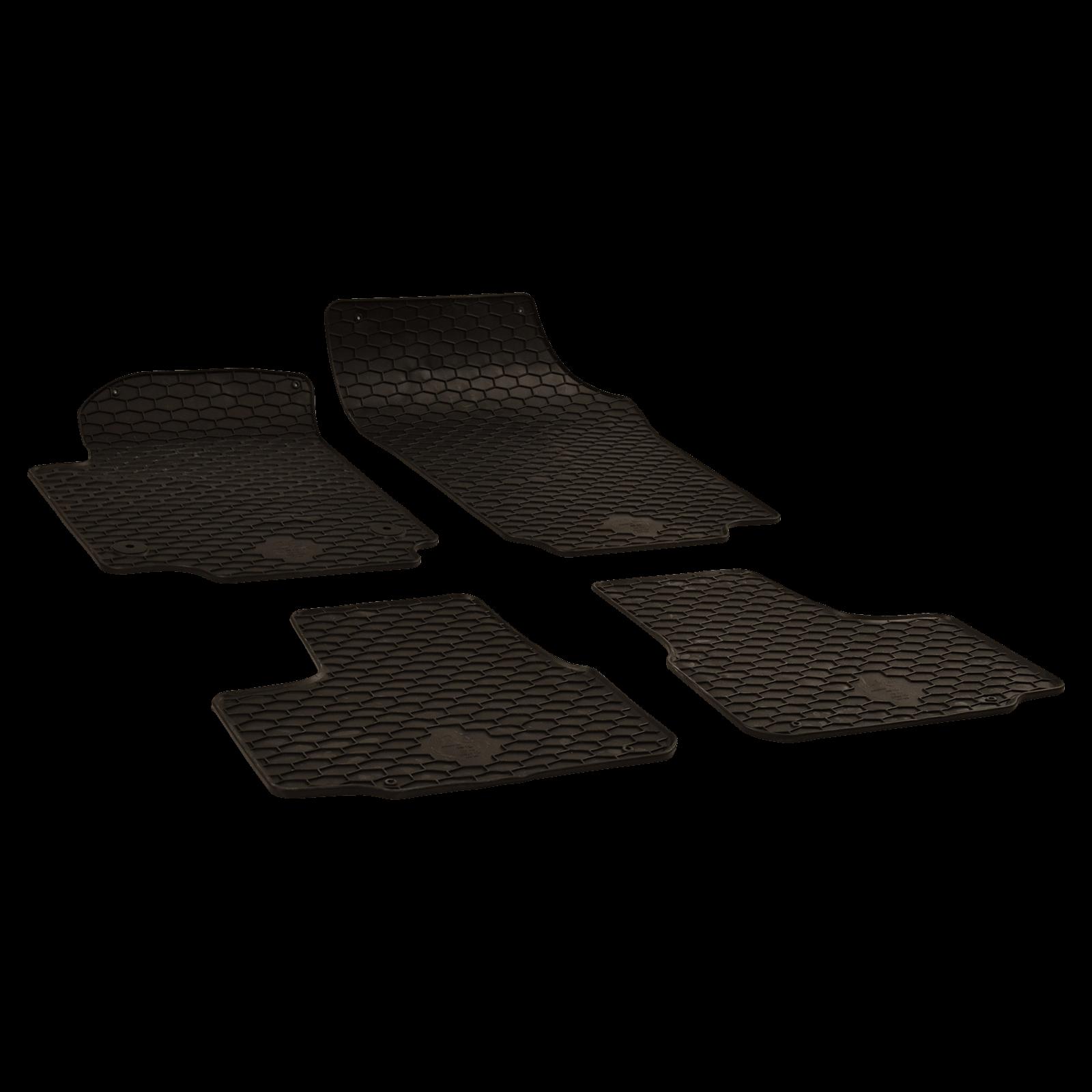 gummi fu matten schwarz f r vw up bj. Black Bedroom Furniture Sets. Home Design Ideas
