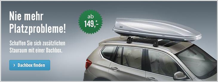 Nie mehr Platzprobleme! Schaffen Sie sich zusätzlichen Stauraum mit einer Dachbox.