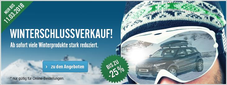 Winterschlussverkauf! Ab sofort viele Winterprodukte stark reduziert.